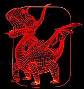 HPBN8 3D Dragon Dinosaurier Illusions LED Lampen