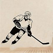 Jasonding Hockey Player Wandaufkleber Sport Ice