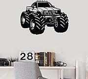Jasonding Monster Truck Vinyl Wandtattoo Home
