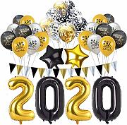 jaspenybow 2020 Frohes Neues Jahr Ballon Set,