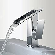 JRUIA Design Wasserfall Bad Wasserhahn Messing
