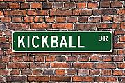 Kickball Schild Fan Kickball Player Kickball