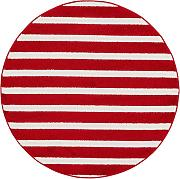Kinderteppich Noa Kids Stripes Rot ø 120 cm rund