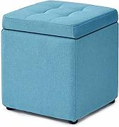 Kleine Hocker Home Storage Storage Bank Stoff Sofa