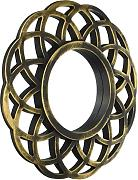 KOLE IMPORTS Distressed Circle Wandspiegel, Gold