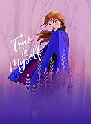 Komar Disney Wandbild Frozen Anna True to Myself |