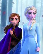 Komar Disney Wandbild Frozen Sisters in The Wood |