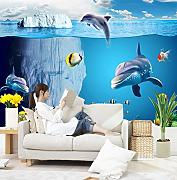 Kuamai 3D Cartoon Shark Fisch Unterwasser Foto