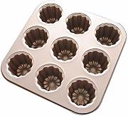 Kuchenform Backform Muffin-Backformen 9-fach