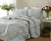 Laura Ashley Rowland Blue Quilt Set, King by Laura