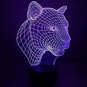 LED 3D Night Lightleopard USB-Kabel Dekoration