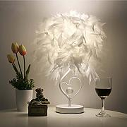 ledmomo Feather Tisch Light, Kristall in Form Form