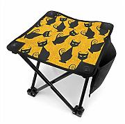 liang4268 Camping Hocker Black Cat for Halloween