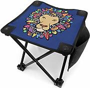 liang4268 Camping Hocker Lion with Mane of