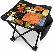 liang4268 Camping Hocker Rose with Butter-Fly