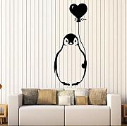 Lkfqjd Vinyl Wandtattoo Cartoon Arctic Penguin