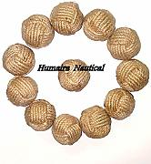 "Lot of 100 1.5"" Decorative Rope Ball/Jute Rope"
