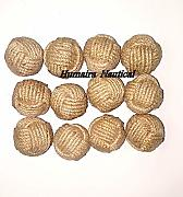 "Lot of 24 1.5"" Decorative Rope Ball/Jute Rope"