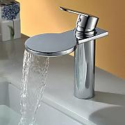 Lozse Solid Brass Einhand-Chrom-Finish Wasserfall