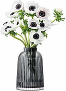LSA International Falte Vase H20 cm grau