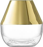 LSA International Space Vase 10 cm Gold, Klar