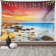 Lunarable Coastal Tapisserie King Size,