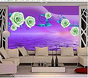 LWCX Vintage Wallpaper 3d Fantasy Rose Reflexion