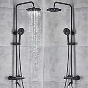 Matte Black Thermostatic Shower Wasserhahn Set