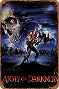 Maufu Army of Darkness Zinnschild Wanddekoration