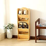 MCUWEHGFET Schuhregal Simple Home Schuh Rack Wood