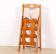 MCUWEHGFET Schuhregal Simple solid Wood Schuh Rack