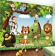 Mddjj Wandbild Tapete 3D Cartoon Tierwelt Kinder
