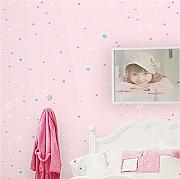 Mddjj Warme Tapete Pink Stars Wallpaper Kinder