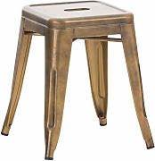 Metall Hocker Armin-gold