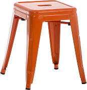 Metall Hocker Armin-orange