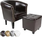MIADOMODO Chesterfield Sessel und Hocker | aus