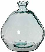 MICA Decorations Vase recyceltes Glas transparent