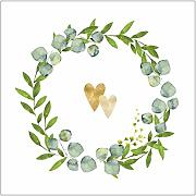Miss Lovely Hochzeitsservietten Botanical Hearts