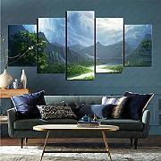 mmkow Leinwand 5-teiliges Set Fantasy-Landschaft