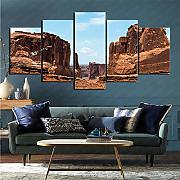 mmkow Wandbild 5-teiliges Set Earth Arches