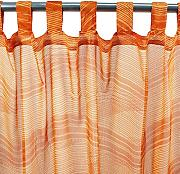 MonbeauRideau Wellen 110 x 250 orange Tab Top