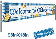 Mosoan Welcome to Oktoberfest Schild Banner –