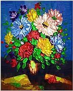 MSFX Oil Painting Flower Vase Jigsaw Puzzles for
