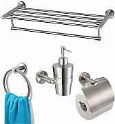 Multi-BathSet Edelstahl Bad Accessoires Set Bad
