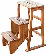 Multipurpose folding wooden step stool Tragbare