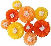 Mybbshower Ombre orange Papierblumen Herbst