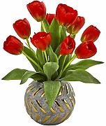 Nearly Natural 15in. Tulip Artificial Decorative