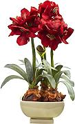 Nearly Natural Fast Natur Amaryllis Arrangement