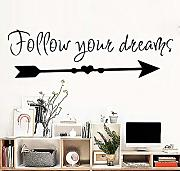 Neue Design zitate Follow You Dreams Dekoration