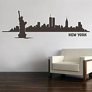 New York City Skyline Freiheitsstatue Wandtattoo